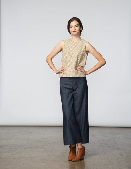 SBJ Austin Kaya Top - Natural Woven