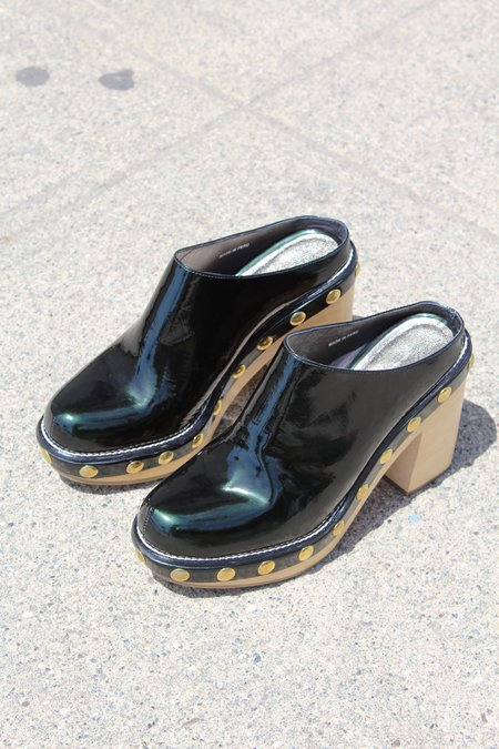 Rachel Comey Powers Clog Patent Leather Emerald