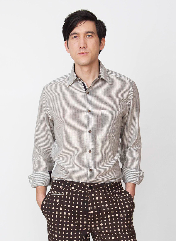 Seek Collective Dean shirt | grey stripe