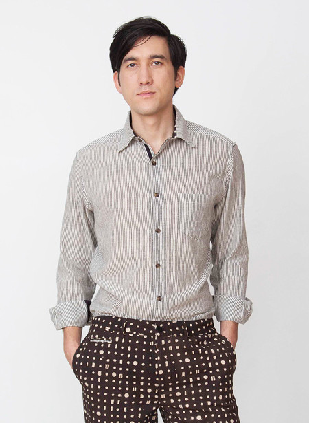 Seek Collective Dean shirt | grey stripe