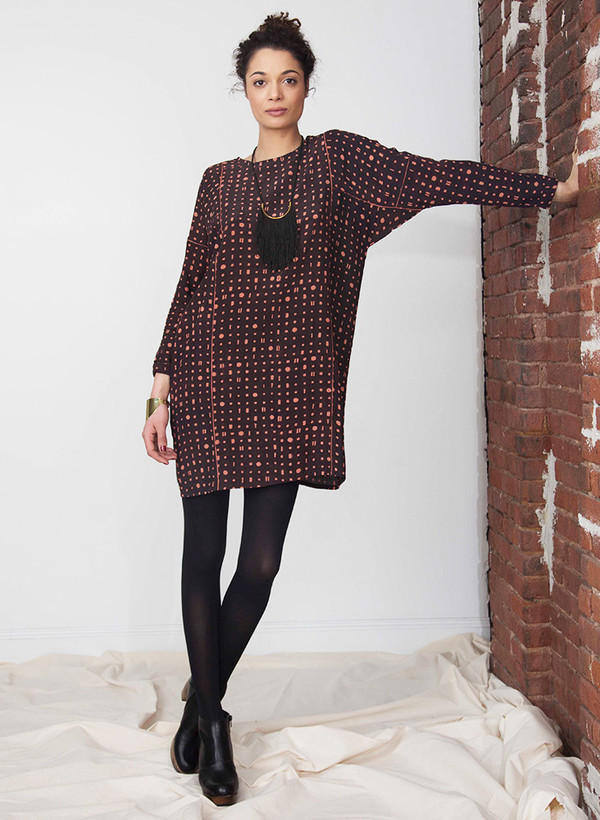 Seek Collective Sara dress | Black/pink portals print