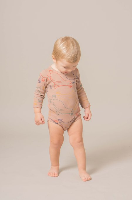 Kid's Bobo Choses OTARIINAE PRINT LONG SLEEVE BODY