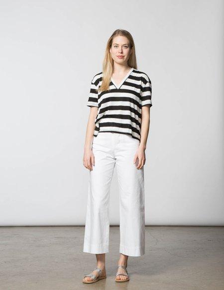 SBJ Austin Bea Top - Black & White Stripe