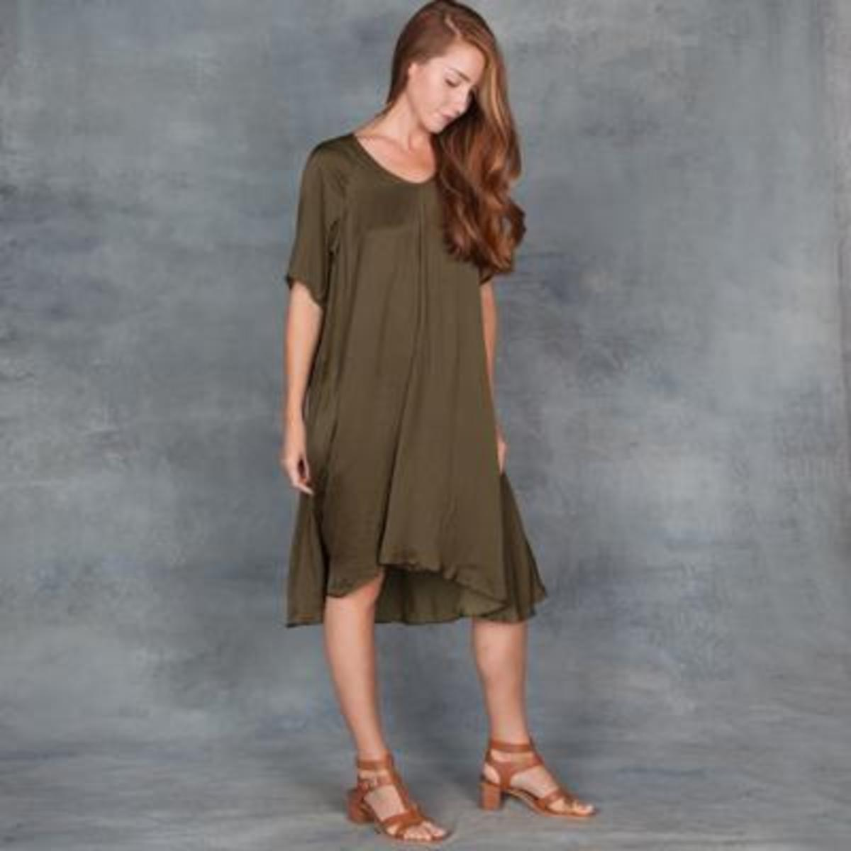 710dd1cd0e Jill Aiko Yee Airy Dress in Olive