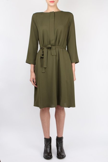 Pomandere Belted Dress - Army