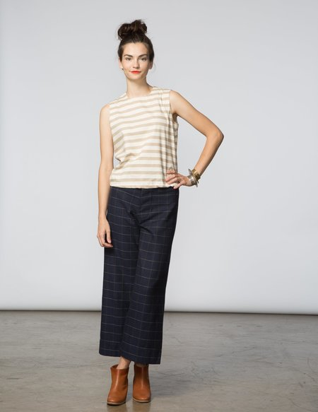 SBJ Austin Kaya Top - Natural & Cream Stripe