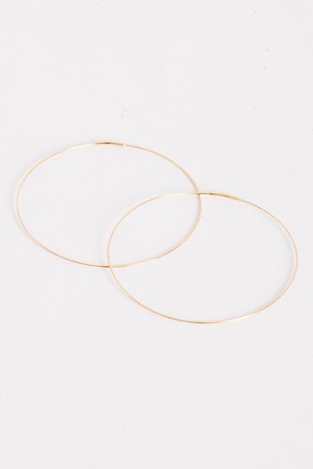 Kathleen Whitaker Large Hoop Earrings in Gold