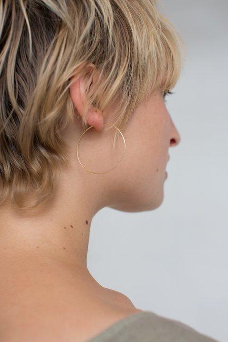 Kathleen Whitaker Medium Hoop Earrings - Gold