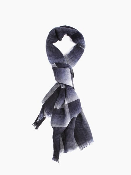 Oliver Spencer Carrock Scarf Navy