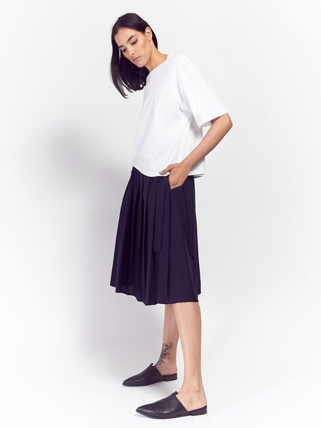 Kowtow Long Player Skirt - Navy