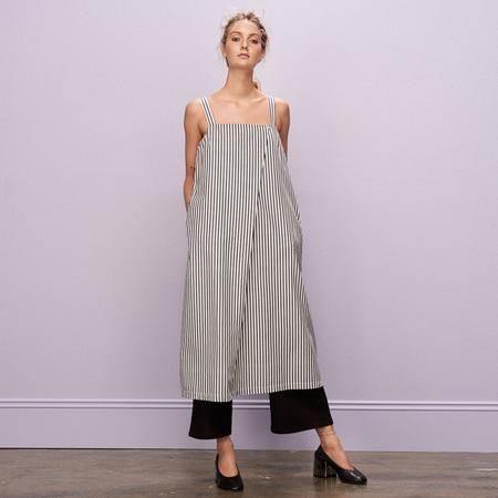 Kowtow Shadow Dress - White Stripe