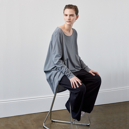 Kowtow Building Block Drape Top - Dove Grey