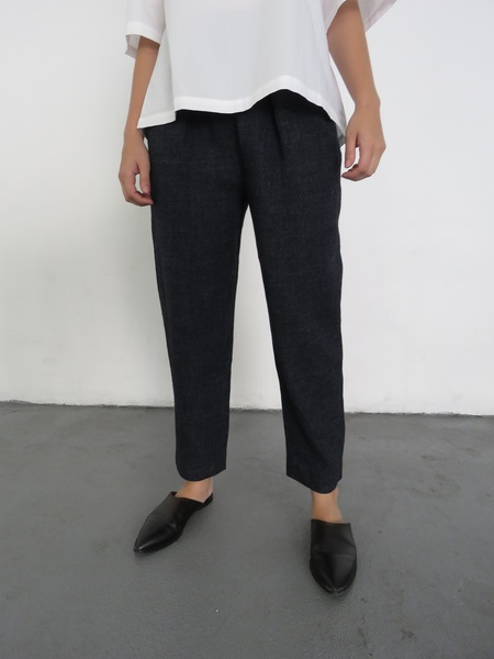 SAMUJI BRIGS TROUSERS - NAVY BLUE