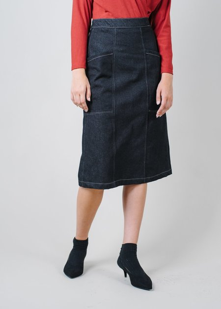 REIFhaus Patti Skirt in Black Denim
