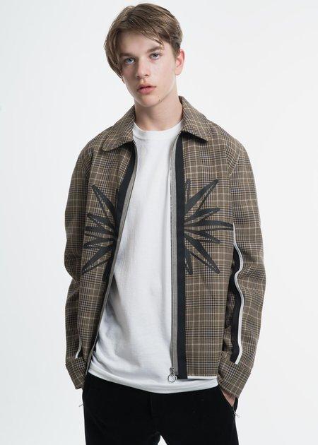Tim Coppens Tan Check FZ Shirt Jacket