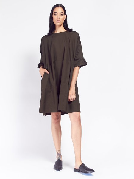 Kowtow Shutter Dress - Dark Moss
