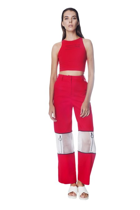I WAITED FOR YOU... ZIPPER KNEE PANT - RED