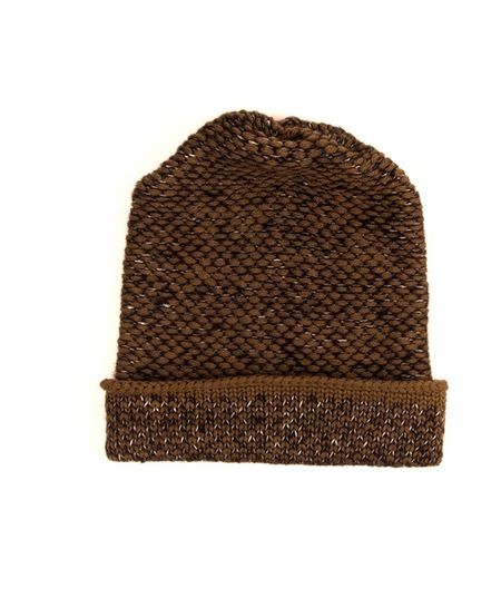 Kordal Seed Stitch Hat Brown/Dk Grey