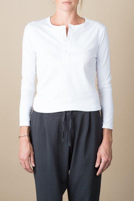 Handvaerk Long Sleeve Henley In White