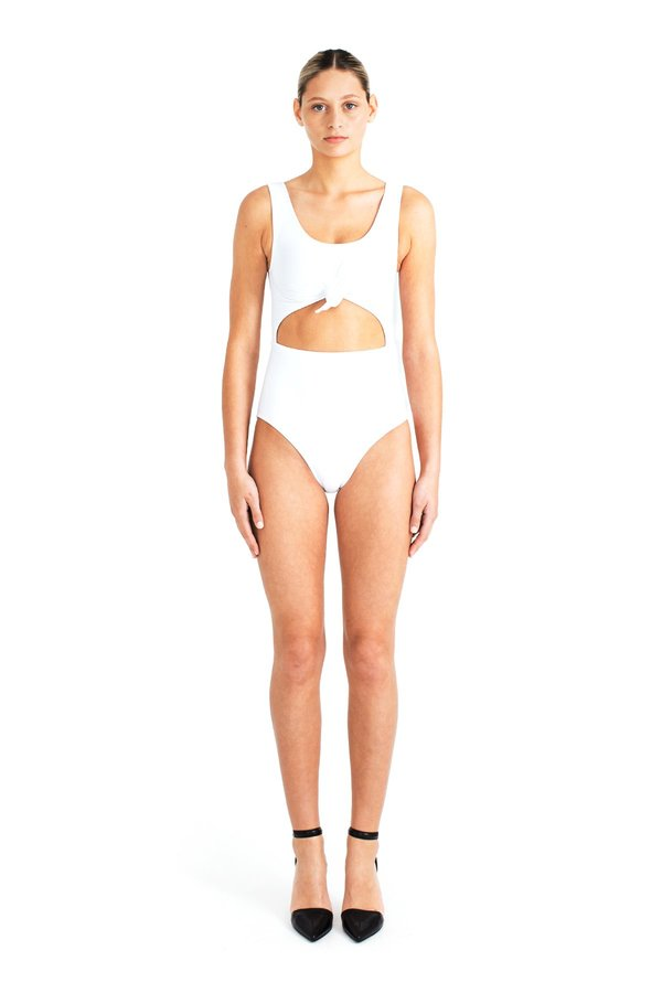 Beth Richards Knot One Piece - White