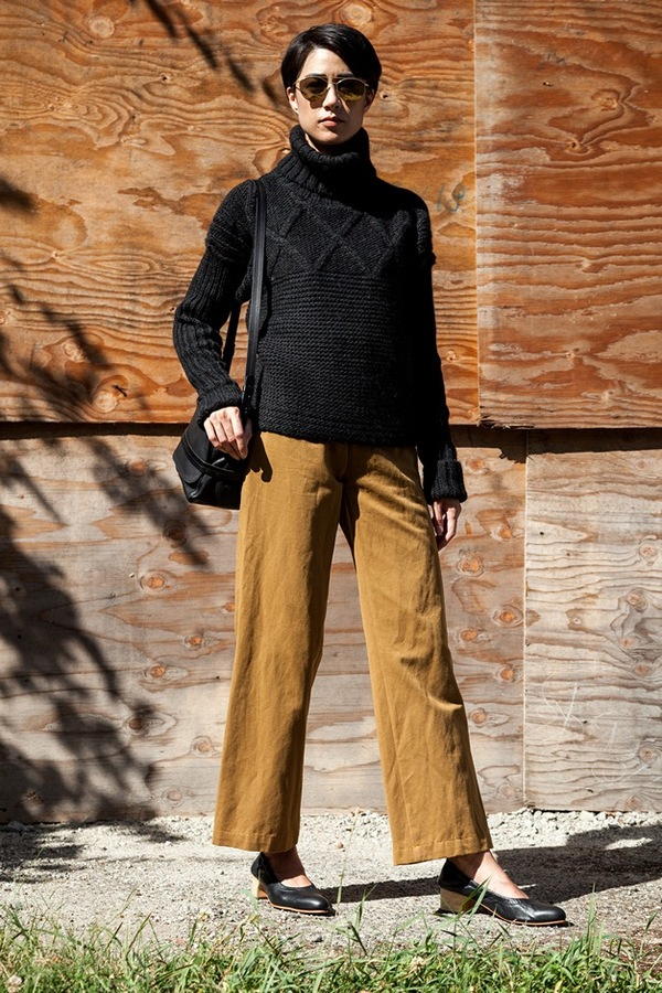 Apiece Apart Turtleneck Fisherman Sweater