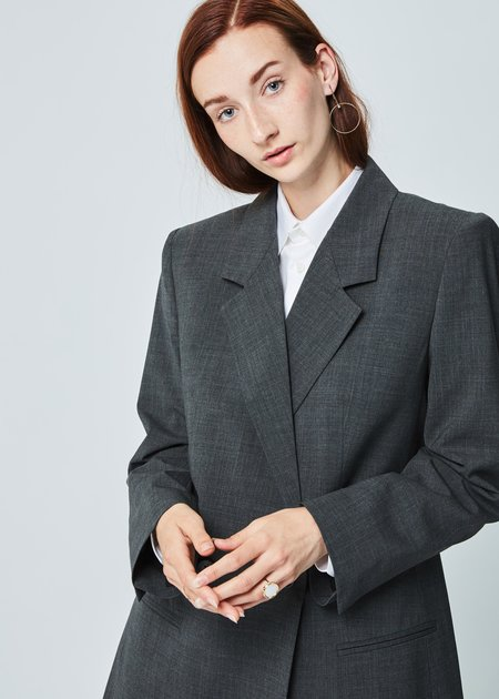 Ter et Bantine Double Breasted Long Blazer