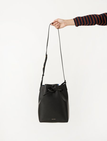 Mansur Gavriel Womens Bucket Bag - Black/Royal