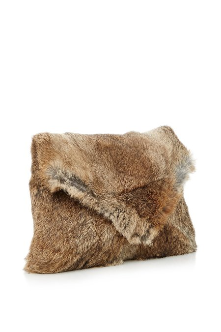 Ulla Johnson Fiona Fur Clutch
