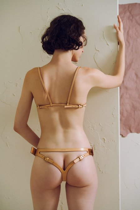 Fleet IIya Leather Knickers in Nude