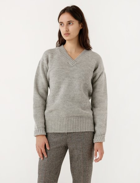 MHL by Margaret Howell Oversized Jumper British Wool Silver