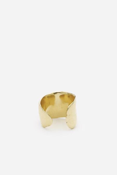 Odette New York Lunate Ring in Brass