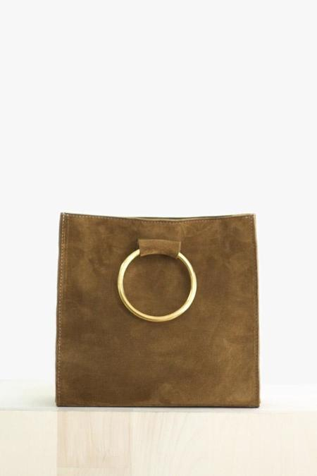 Ceri Hoover Simone Ring Handle Bag In Walnut