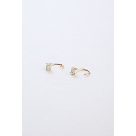 Copy of Melissa Joy Manning - White Opal Hugger Earrings