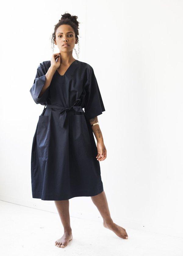Sunja Link Patch Pocket Dress in Navy