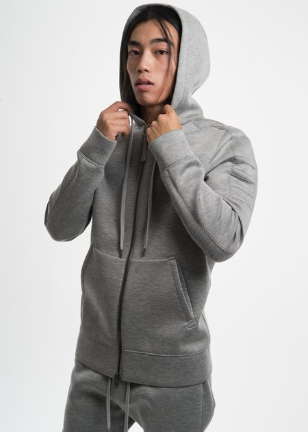 Helmut Lang Heather Grey Tape Zip Up