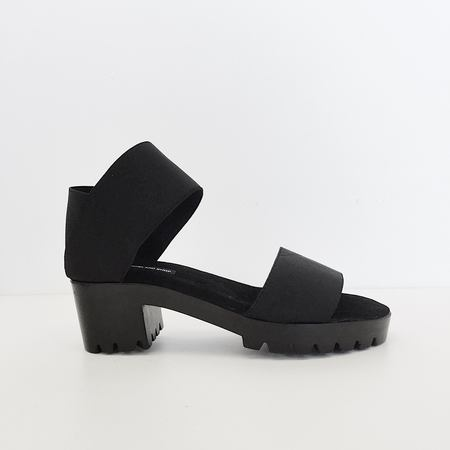 James Rowland Black Dual Strap Sandal