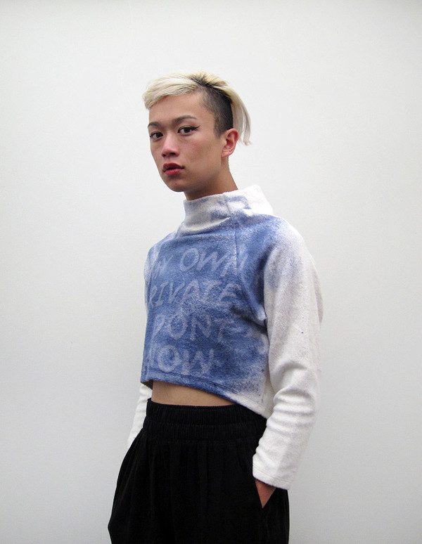 Eckhaus Latta Crop Sweatshirt   My Own Private I Don't Know