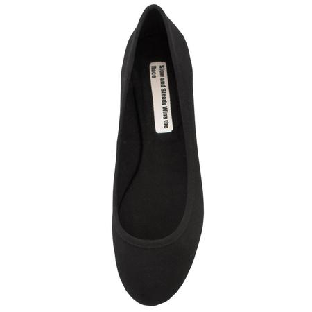 Slow and Steady Wins the Race Ballet Flat - Black, plain