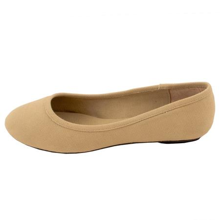 Slow and Steady Wins the Race Ballet Flat- plain khaki