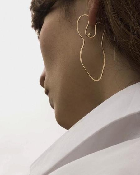 Knobbly Studio x Laurie Franck Abstract Nude Earrings in Gold