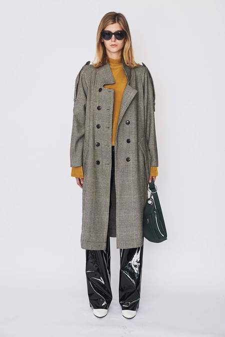 Assembly New York Wool Plaid Trench