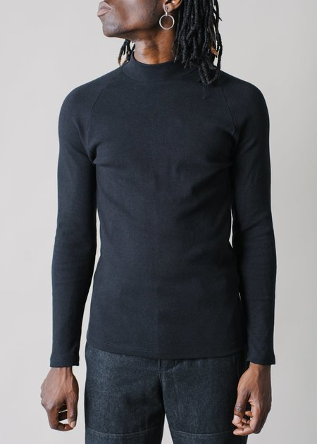 REIFhaus Oskar Raglan in Black Rib Knit