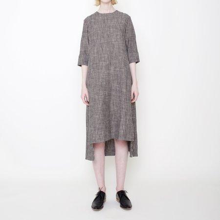 7115 by Szeki Square Hem Midi Dress - Stripes