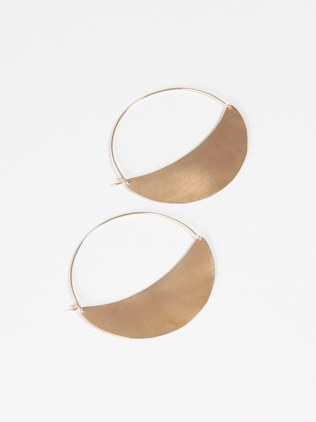 Lila Rice Crescent Hoops Large
