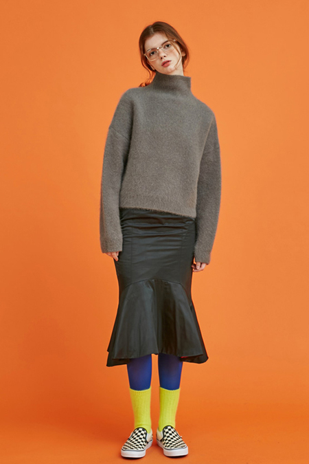 Another Angora Wool Knit- Grey