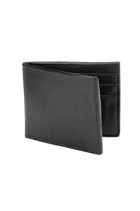 Lotuff Leather Bifold Wallet - Black