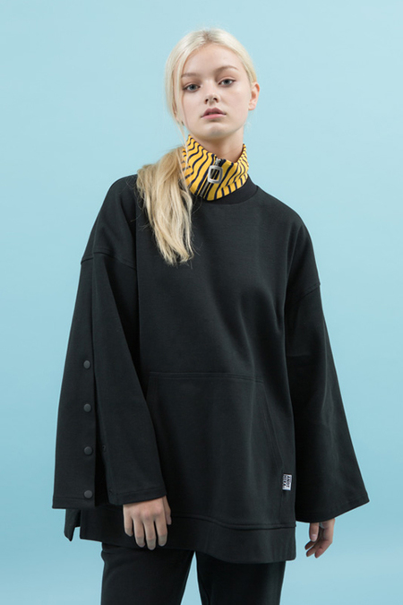 Another. Oversized Tunic Top- Black