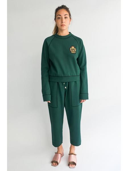 Suzanne Rae Loose Elastic Waist Pant, Pique Cotton Jersey