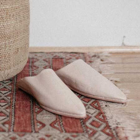 Unisex TWENTY ONE TONNES Natural Babouche Slippers