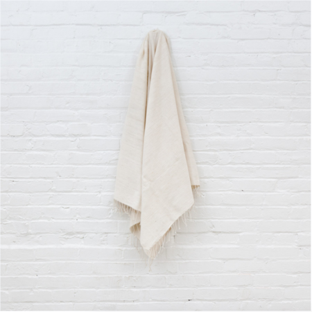 TWENTY ONE TONNES Natural Ribs Bath Towel